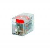 Tele Haase RM 024LD-N Miniaturrelais 4 Wechsler 24 V DC Handbetätigung 100604FD-N